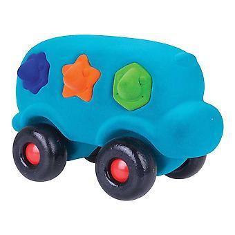 Rubbabu edukacyjne kształt dużych Sorter autobus (turkusowy) miękkie pluszowe zabawki