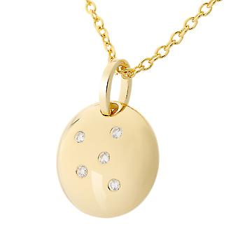 Orphelia Silver 925 Chain With Pendant Ball Gold Plated Zirconium  ZH-7130/G