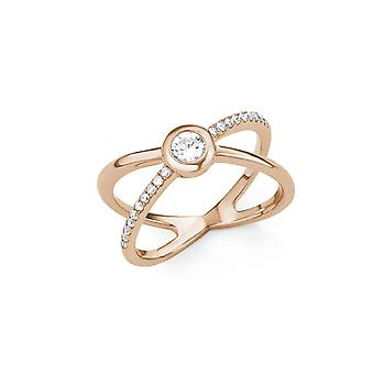 s.Oliver jewel ladies ring silver Rosé gold cubic zirconia X-ring 201514