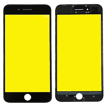 Display glass for Apple iPhone 8 plus 5.5 display glass LCD + frame + OCA glue parts black