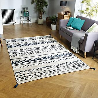 Beni Weavers Blue  Rectangle Rugs Traditional Rugs