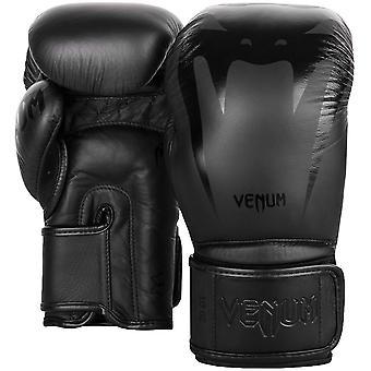 Venum Giant 3.0 Hook and Loop Training Boxing Gloves - Black/Black