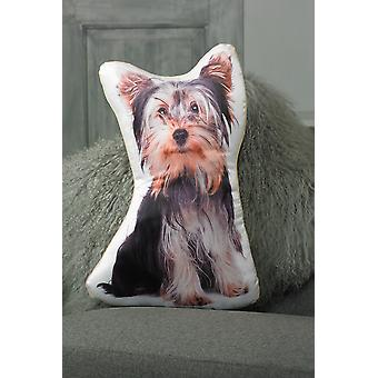 Adorable yorkshire terrier shaped cushion