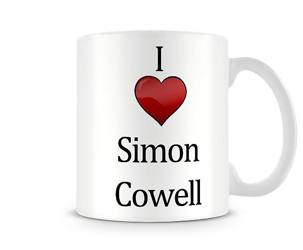 Simon Cowell imprimé J'aime la tasse