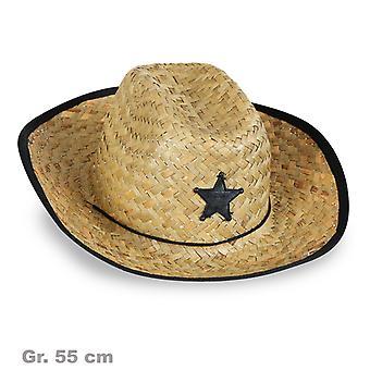 Cowboy natural straw Wild West Sheriff star