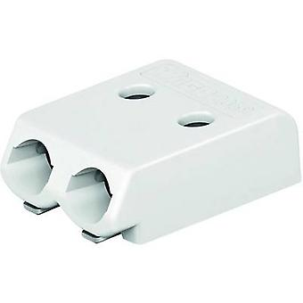 WAGO Spring-loaded terminal Number of pins 2 White 1 pc(s)