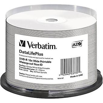 Blank DVD-R 4.7 GB Verbatim 43734 50 pc(s) Spindle Printable