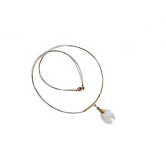 Moonstone necklace gold Moonstone necklace gold plated