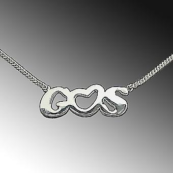 Name chain letter chain - request letters with heart - 925 sterling silver necklace