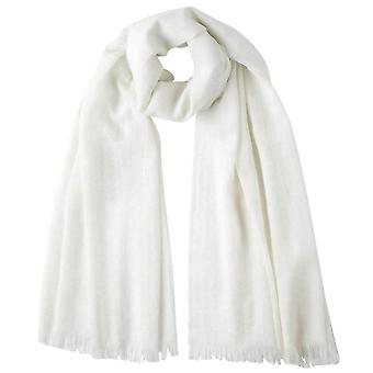 Johnstons of Elgin Extra Fine Wide Scarf - White