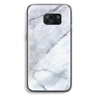 Samsung Galaxy S7 Transparent Case (Soft) - Marble white