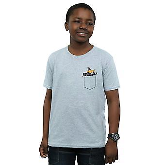 Looney Tunes Boys Daffy Duck Faux Pocket T-Shirt