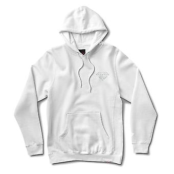 Diamond Supply Co Micro Brilliant Hoodie White