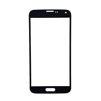 Stuff Certified ® Samsung Galaxy S5 i9600 A + Quality Front Glass - Black
