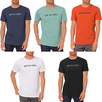 Animal Mens Classico Logo Graphic Short Sleeve Crew Neck T-Shirt Tee Top