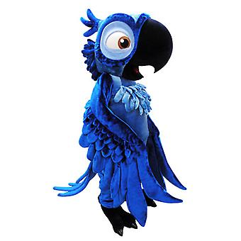 mascot SPOTSOUND of Blu, famous Blue Parrot from the cartoon Rio