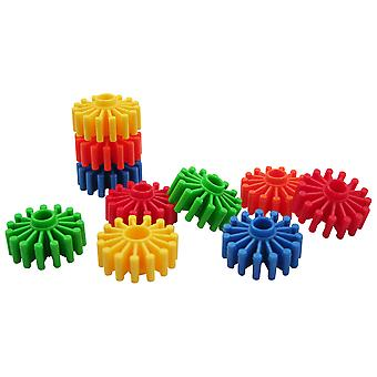 Bigjigs Toys pädagogische Gear Builder (192 Versatzstücke) Bau sortieren