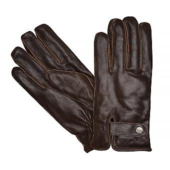 LLOYD mens gloves gloves cowhide leather, vintage Brown 7625