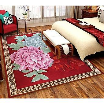 100% Wool Carpets For Bedroom Hallyway European Style Area Rug Carpet Floor Door Mat Delicate Red Thicken Carpets