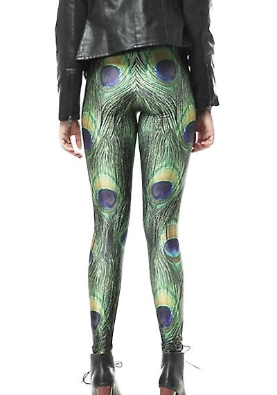 Waooh - Fashion - Legging pattern peacock feathers