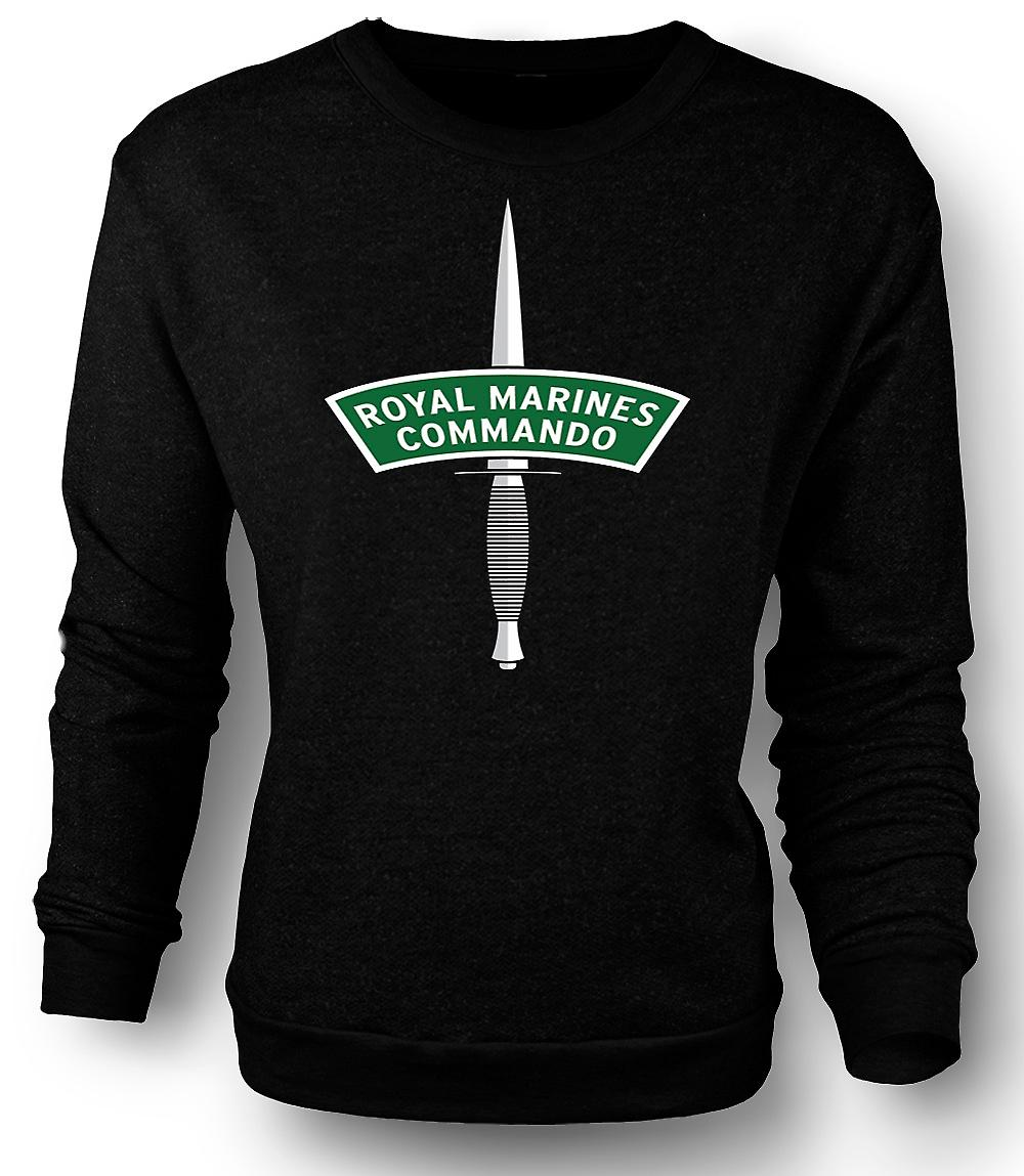Mens Sweatshirt Royal Marines Commando Dagger