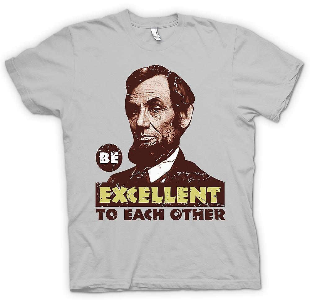 Mens T-shirt - Be Excellent To Each Other - Bill And Ted - Funny
