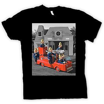 Kids t-skjorte - Trumpton brannvesenet - tegneserie Retro inspirert