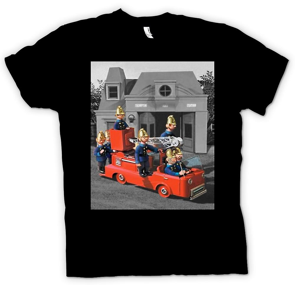 Womens T-shirt - Trumpton Fire Brigade - Cartoon Retro Inspired