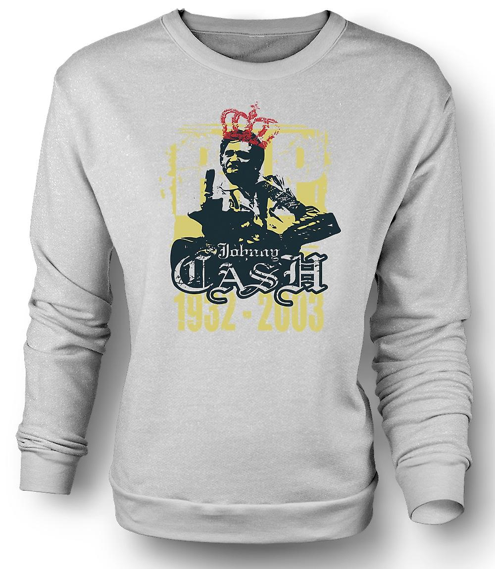 Mens Sweatshirt Johhny Cash 1932 - 2003 - Music Legend