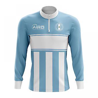 Guatemala koncept fodbold halvdelen Zip Midlayer Top (himlen blå-hvid)