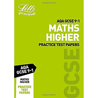 AQA GCSE 9-1 Maths Higher Practice Test Papers (Letts� GCSE 9-1 Revision Success)� (Letts GCSE 9-1 Revision Success)