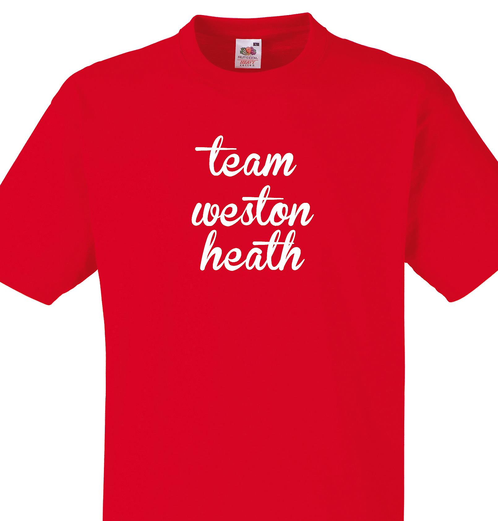 Team Weston heath Red T shirt