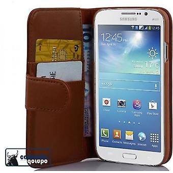 Cadorabo Hülle für Samsung Galaxy MEGA 5.8 Case Cover - Handyhülle aus glattem Kunstleder mit Standfunktion und Kartenfach – Case Cover Schutzhülle Etui Tasche Book Klapp Style