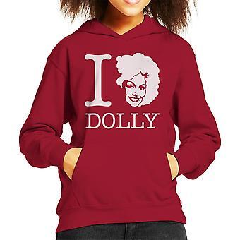 I Heart Dolly Parton White Kid's Hooded Sweatshirt