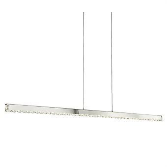 Trèfle Chrome et cristal verre Pendentif barre Straight LED - projecteur 7005CC