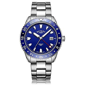 Rotary   Gents Stainless Steel Bracelet   Blue Dial   GB05108/05 Watch
