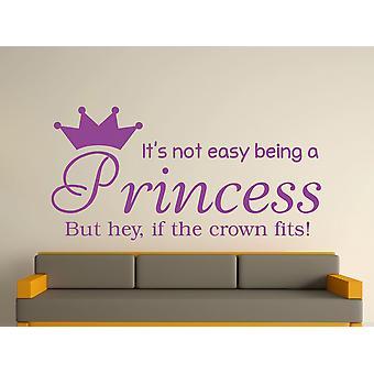 Being A Princess Wall Art Sticker - Purple