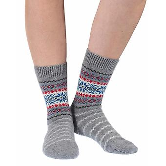 Betty women's luxury cashmere crew socks in flannel | By Pantherella