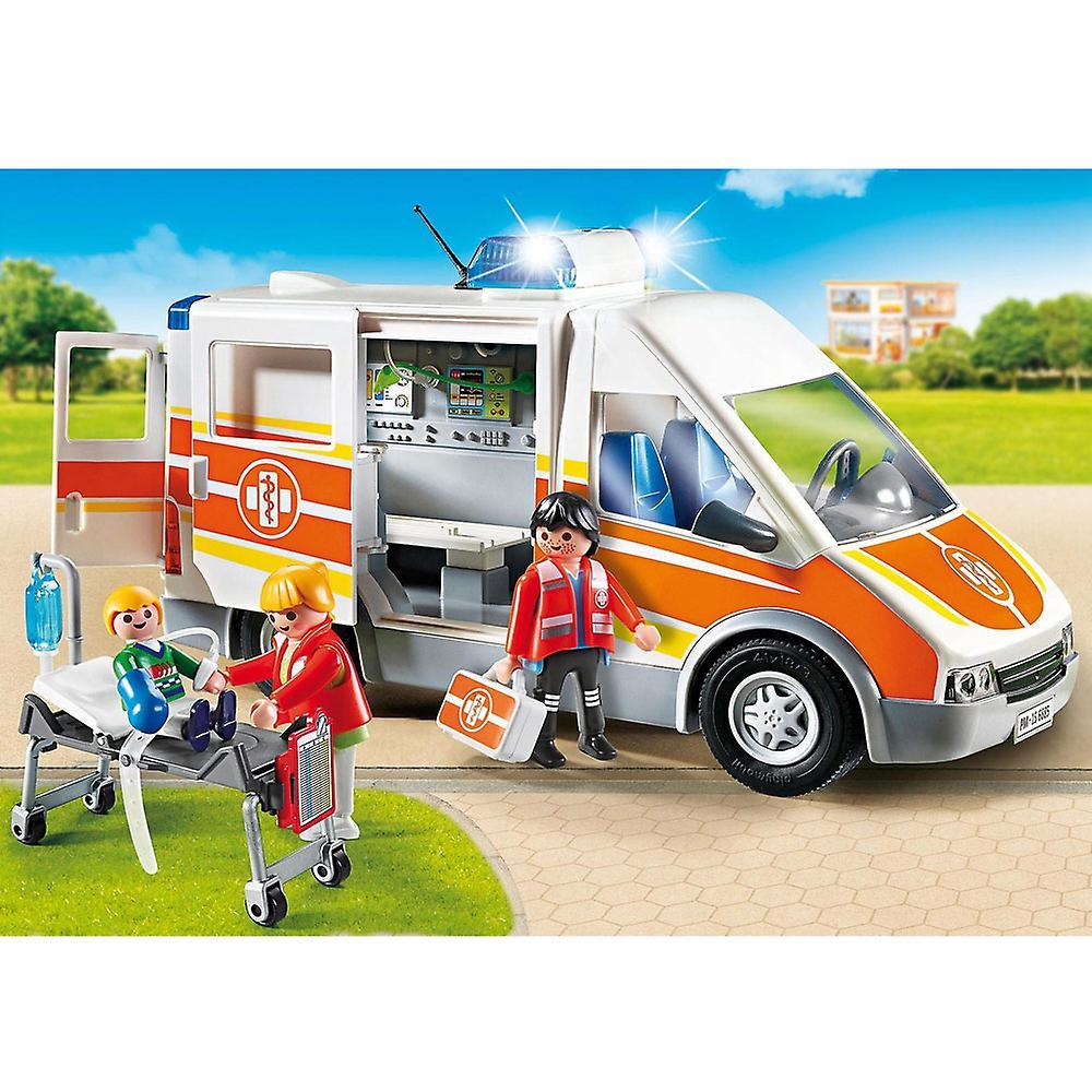 Ville de Playmobil vie Ambulance avec lumières et sons