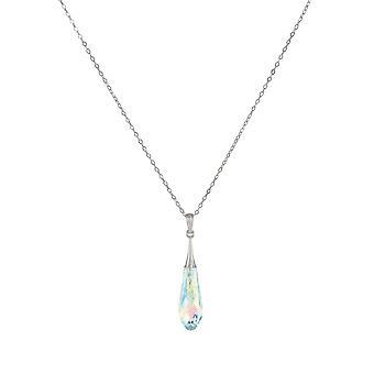 Éternelle Collection prisme Aurora Borealis Briolette autrichienne Crystal argent Sterling pendentif