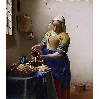 Milkmaid, Jan Vermeer van Delft, 46x41cm