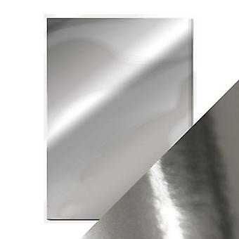 Craft Perfect A4 High Gloss Mirror Card Chrome Silver Tonic Studios