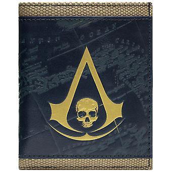 Assassins Creed Flag Bronze Coin & Card Bi-Fold Wallet