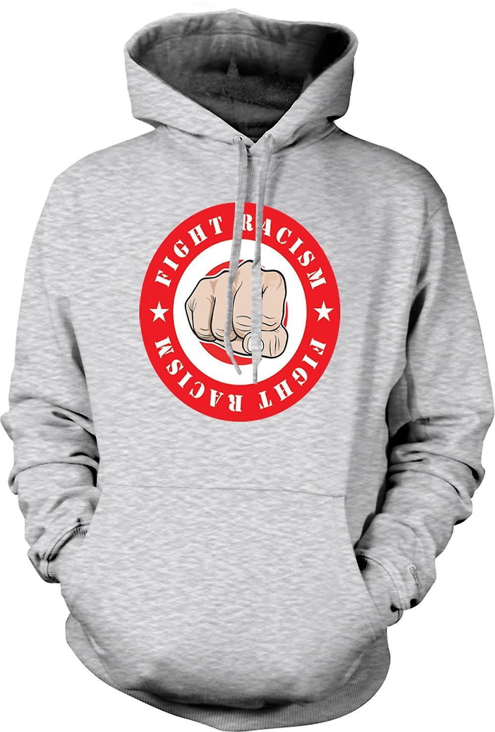 Mens Hoodie - Fight Racism Logo - Cool