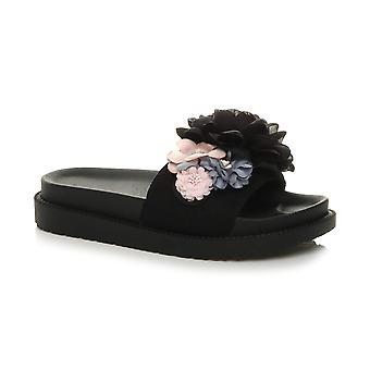 Ajvani Donnas chunky flatform fiori piattaforma scivolare su cursori sandali