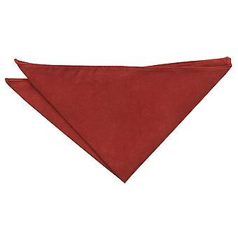 Rust Suede Pocket Square