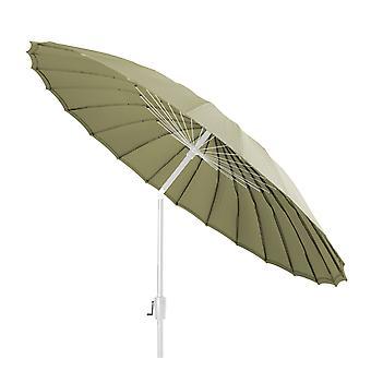 Beach7   Shanghai parasol rond Spunacrylic doek    Wit/Olive   parasols