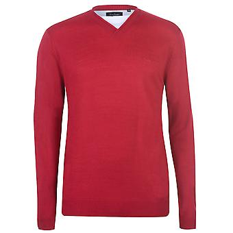 Pierre Cardin Mens Mock Tee Top T-Shirt T Shirt Neck Knit Pullover Sweater