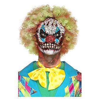 Schiuma di lattice Clown testa protesica, rosso, con adesivo Fancy Dress Accessory