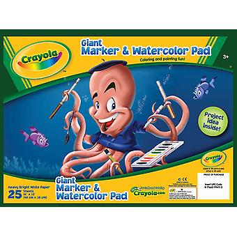 Crayola Giant Marker & Watercolor Pad 12
